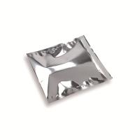 Snazzybag 160 x 160 zilver ondoorzichtig