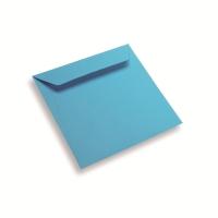 Papieren envelop 170 x 170 blauw