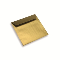 Enveloppe papier 155 x 155 dorée