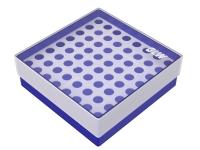 Storage box voor 64 buizen, blauw, b41b