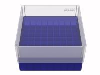 Storage box voor 81 buizen, blauw, b80b