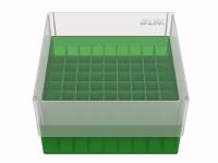 Storage box voor 81 buizen, groen, b80g