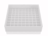Storgae box voor 81 buizen, wit, b50w