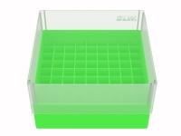 Storage box voor 81 buizen, lichtgroen, b80h