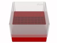Storage box voor 81 buizen, vuurrood, b99f