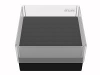 Storage box voor 81 buizen, zwart, b80s