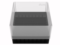 Storage box for 81 tubes, black, b99s