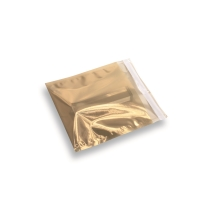 Snazzybag 160 x 160 goud half transparant