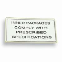 Label IATA-DGR white