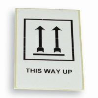 Label 'This way up' white