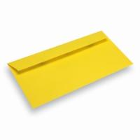 Papieren envelop Din Long geel
