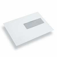 Papieren envelop EA5 wit venster rechts