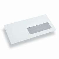 Papierumschlag Din Lang weiss mit Sichtfenster Rechts