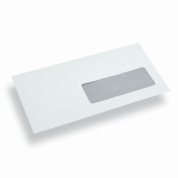 Papieren envelop Din Long wit venster rechts