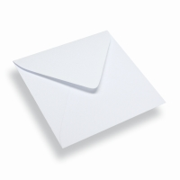 Quadratischer Papierumschlag 120 x 120 weiss
