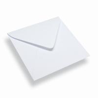 Vierkante papieren envelop 140 x 140 wit