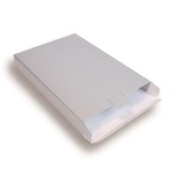 Zilveren Kartonnen Verzendverpakkingen 240 + 29 x 350 mm
