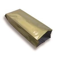 Zijvouwzak goud met ventiel 250 g