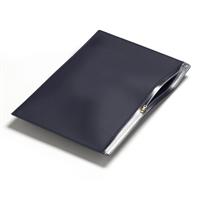 Pochette PVC curseur A5 / C5 bleu traditionnel