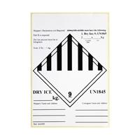 Label droog ijs UN 1845