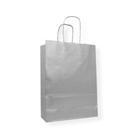 Kraft Paper Carrier Bag 230 x 100 x 320 zilver