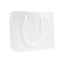 Glossy Bag Parel Wit 42x10x37cm+6cm