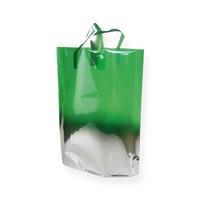 Fadebag groen / zilver 390 x 450
