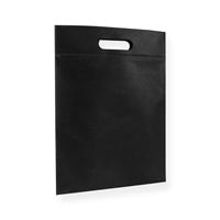 Non Woven draagtas 30x40cm zwart uitgestanst handvat