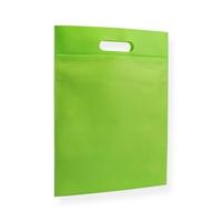 Non Woven draagtas 30x40cm groen uitgestanst handvat