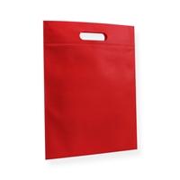Non Woven draagtas 30x40cm rood uitgestanst handvat