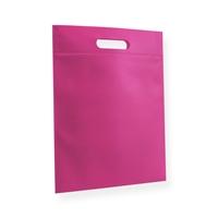 Non Woven draagtas 30x40cm roze uitgestanst handvat