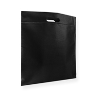Non Woven draagtas 40x45cm zwart uitgestanst handvat