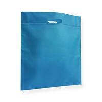 Non Woven draagtas 40x45cm blauw uitgestanst handvat