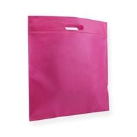 Non Woven draagtas 40x45cm roze uitgestanst handvat