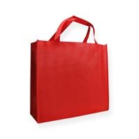 Non Woven draagtas rood 40+12x35cm met hengsels