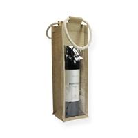Jute Wijntas 35x11x10cm (1 fles)