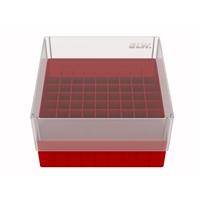 Storage box voor 81 buizen, vuurrood, b80f