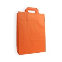 Kraft Paper Carrier Bag 260x120x370 mm oranje