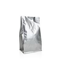 Box pouch Matt-silver 500 gram Valve Coffeebeans
