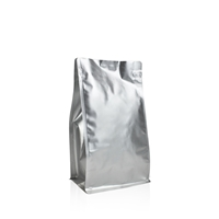 Box pouch Matt-silver 500 gram Coffeebeans