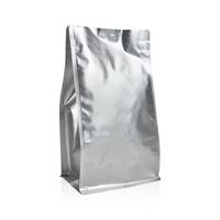 Box pouch Matt-silver 1.000 gram Coffeebeans