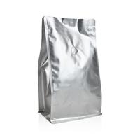 Box pouch Matt-silver 1.000 gram Valve Coffeebeans