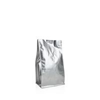 Box pouch Matt-silver 250 gram Valve Coffeebeans