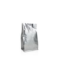 Box pouch Matt-silver 250 gram Coffeebeans