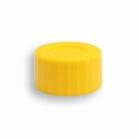 Biopost schroefdop geel