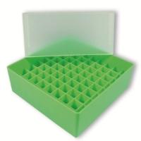 Storage box voor 81 buizen, lichtgroen, b99h