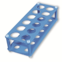 Storage rack for 2 x 6 tubes, blue, g26