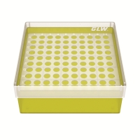 Storage box for 100 tubes, yellow, b63y