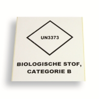 Label UN3373 Logo 99 x 110 White
