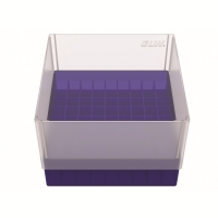 Storage box for 81 tubes, blue, b99b